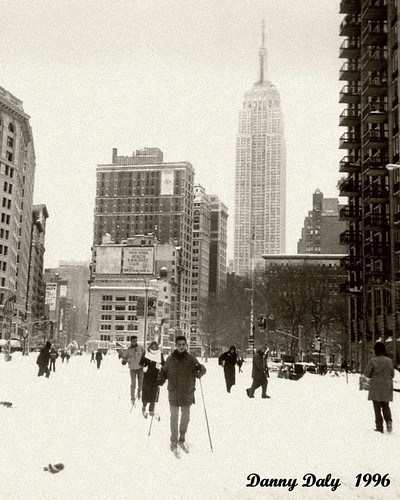 SKIING DOWN BROADWAY NEW YORK 1996