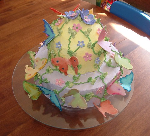 another view of the butterfly cake