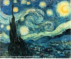 Starry Night von/from van Gogh (pittigliani2005) Tags: france art netherlands night painting star frankreich dorf nacht kunst expressionism breda 1853 1980 stern avignon vangogh 1890 1889 niederlande starrynight vincentvangogh malerei auverssuroise expressionismus saintremy zypressen sternennacht paulgachet geisteskrankheit wikipediagelesen homepagegelesen weblogegotripgelesen grootzundert