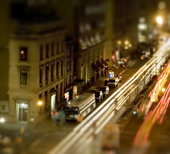 Another Fake Tilt Shift (S.D.) Tags: nyc nycpb night nikon scenery tripod d70s 2006 nikond70s 1870mm march2006 faketiltshift tiltshiftfake tiltshift12 fisfor nikonstunninggallery