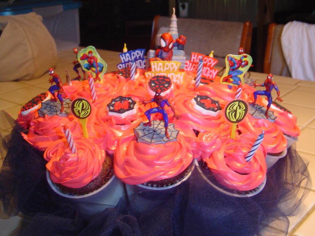 Spider Man Cupcake Bouquet