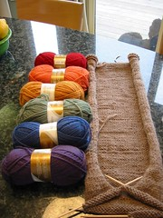 tubey progress 1 (londonne) Tags: wool lemon rainbow knitting yarn fiestaware knitty standardpoodle tubey