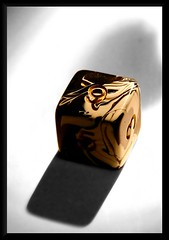 Coup de d (Christine Lebrasseur) Tags: brown dice france macro art canon cutout 350d gold beige poetry noiretblanc quote bordeaux numbers minimalism interestingness59 stphanemallarm allrightsreservedchristinelebrasseur