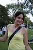 Em! (Scootie) Tags: portrait smile yellow emily australia melbourne victoria pc3000 yellowtop braless sidneymyermusicbowl kissmygrass fripple