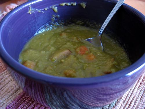 Savory Pea Soup and Sausage