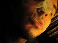 Browse this stream backwards!!! (C M) Tags: light portrait me face amsterdam self dark smoke 2006 smoking