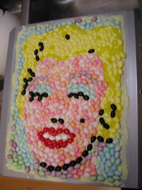 Warhol's Monroe in Jelly Beans