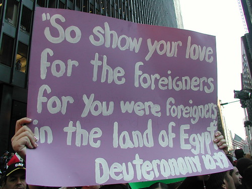 Immigrant sign from the Old Testament