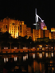 Madinat Night and Reflections (jeffinmoscow) Tags: night hotel al dubai emirates arab luxury 7star burj