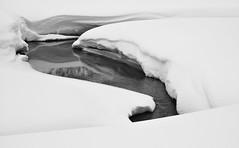 Lake Louise inlet (debunix) Tags: winter lake snow canada mountains rockies rocky 2006 louise alberta banff