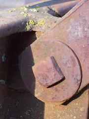 Bolt (northbaywanderer) Tags: california rust decay machine oxidation sonomacounty lichen farmequipment farmmachinery larkfieldwikiup oldredwoodhighway stokeranch