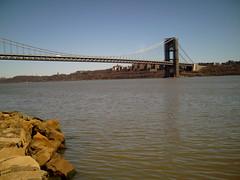 George Washington Bridge - view from NJ 2 (avaupel) Tags: hiking georgewashingtonbridge palisades