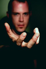 Give Jason a hand (.brian) Tags: portrait man male face hand reaching fingers