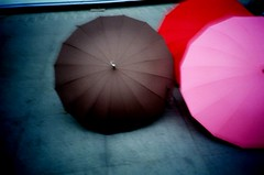 illusion (Luc..) Tags: pink red color topf25 rain umbrella lomo shanghai taiwan attitude luc aery