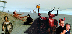 Satan Family Vacation Photo (Slightly Cynical) Tags: photoshop santamonica manipulation tomcruise satan legend foundphoto collaboration nakedguy timcurry oddchildren butkindofcuteinadifferentway tasteslikechickenclipart whereintheworldissatan wereallgoingtohellright