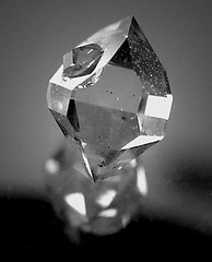 Herkimer Diamond - New York (adamantine) Tags: reflection littlefalls treasure natural crystal symmetry diamond clear mineral newyorkstate geology transparent quartz colorless gem jewel herkimer limpid vitreous colourless crystalline mineralogy pellucid doublyterminated diamondlike