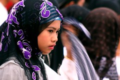 Baleleng (Farl) Tags: travel people colors girl beauty kids lady youth scarf women pretty muslim philippines young hijab violet culture traditions sulu tradition maiden sama mindanao tawitawi tudung samal baleleng sitangkai purung
