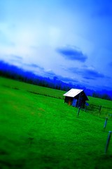 West Virginian Barn (JoelDeluxe) Tags: blue green barn searchthebest va joeldeluxe oversaturated westva
