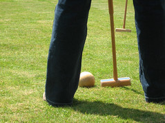 Croquet on the Lawn (photojennic) Tags: uk shadow green sports grass ball garden scotland britain scottish croquet photojennic thebiggestgroup