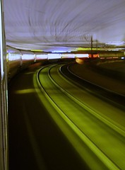 Blurred in Leeds (Thrash Merchant) Tags: travel motion blur night speed train movement publictransit leeds tracks surreal rail trains transportation publictransport railways hst mml class43 intercity125 midlandmainline