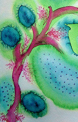 Fantasy tree (Moranga) Tags: pink blue green art nature beautiful catchycolors painting pretty turquoise aquarelle great lindo watercolors watercolours visualpoetry innerchild aquarell aquarelles aguarela moranga fadamoranga aguarelas supercolored mariajoao mariajoaocatarino talens ecolines aquarrelle