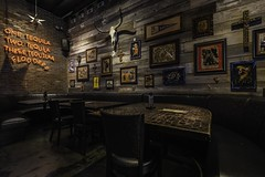 Pistolero's (trevorpopovits) Tags: one two three tequila four liquor alcohol drink drinking interior interiors architecture houston texas restaurant venue art wall long horn southwest dinner