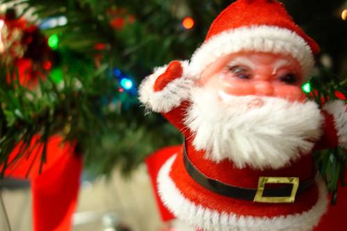squinty Santa