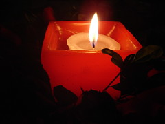 Merry Christmas! (marlenells) Tags: light red black topc25 topv111 1025fav 510fav topv333 candle misc candlegleam lindo christmasdecorations