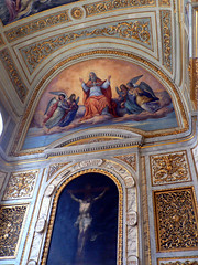 Heaven's Above (Lazy B) Tags: castle mural tag2 tag1 christ prague god jesus paintings ceiling christian angels crucifix fz5 touristshop