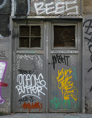 Tagged (funkandjazz) Tags: sanfrancisco california door graffiti us bees think lookup butter destn tetra te suave orfn lescrabs imitationcrabmeat rigor asalt endure