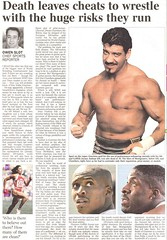 Steroid abuse (GatheringZero) Tags: eddieguerreo wwe steroids steroidabuse atheletics times newspaper news