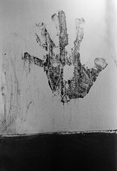 Hand print, Thursday Island (cjbj) Tags: blackandwhite island paint australia queensland handprint thursdayisland capeyork