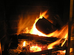 Yule Log Fire (Crfullmoon) Tags: 2005 december yuletime fire fireplace yulelog