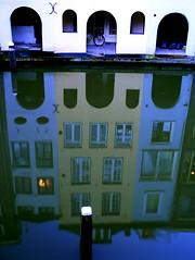 X (Harry Mijland) Tags: blue houses holland reflection water netherlands dutch azul canal europa europe utrecht blauw nederland thenetherlands explore nl gracht oudegracht dearharry harrymijland