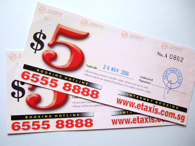 SMRT Taxi Vouchers | Flickr - Photo Sharing!