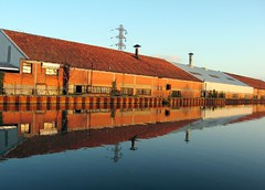 Usine Pechiney, Canal des deux mers, France (Pierre Metivier) Tags: france reflection water canal eau bricks s80 manufacture castelsarrasin canons80 canaldesdeuxmers canallatral