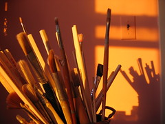 brushes- my art studio (ArtsySFMarjie) Tags: sun art silhouette studio glow shadows unique brush 600 views chopsticks brushes 500views penpencilbrushink 900 600views stirring rosy views900 asfbab artistbrushes macromondays macromonday artsysf