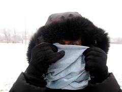 mom (Mister Wind-Up Bird) Tags: regina saskatchewan winter mom snow parka hiding