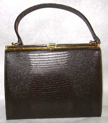 Coquette NY brown lizard purse