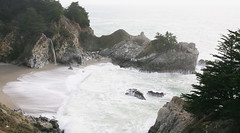 Pirate Dreams (jurvetson) Tags: bigsur waterfall ocean beach sand coast pfeifferstatepark