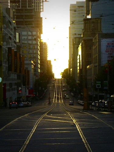 Tram Tracks on LaTrobe St