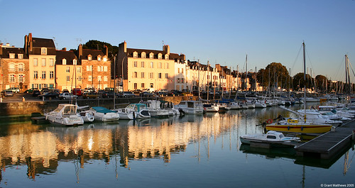 Vannes marina, pictured as the sun goes down. Photo: Grant Matthews
