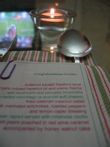 the menu (note rose bowl game in background) | Flickr - Photo Sharing!