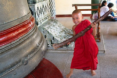 Young monk  At big bell-Mingun / Burma (Dick Verton) Tags: travel people asia burma mirrorsofsociety mingun monnik itsongselection itsong–mirrors–southeastasia itsong–canong2 topphoto