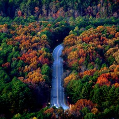asphalt falls. (D.James | Darren J. Ryan) Tags: road blue trees atlanta red urban copyright orange usa color green fall darren yellow architecture forest catchycolors georgia photography gold james j photo blog interestingness interesting photographer ryan d stock architectural 150 explore 25 100 50 asphalt djames 75 stonemountain iwant5 allrightsreserved 175 ornage 125 explored darrenryan wwwdarrenjryancom wwwstudiobydjamescom darrenjryan wwwdarrenryanphotographycom