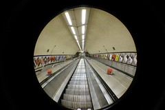 Underground station (fisheye) (Baked Beans) Tags: london tube fisheye