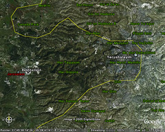 jerusalem (eyair) Tags: google map jerusalem googleearth ashmashashmash