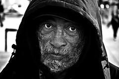 everywhere's rome to me (stoneth) Tags: poverty sf sanfrancisco california ca street portrait people urban blackandwhite bw 15fav white man black male eye beautiful face topv111 closeup 1025fav 510fav beard blackwhite eyes topv333 nikon d70 nikond70 homeless poor photojournalism streetportrait forsakenpeople social impoverished 2006 100v10f 1870mmf3545g human great6 grayscale great5 nikkor 110fav great1 great4 great2 great3 destitute streetshot 125fav great7 222v2f sfcivic