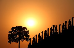 Sunset (Suyog Gaidhani) Tags: sunset sculpture india stone temple maharashtra jain nashik bsborange