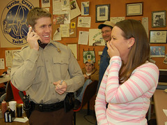 Talking on MY phone to MY mom! (Burnsjs2699) Tags: jen missouri carl sheriff christmaspresent carledwards officercarl